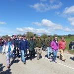 Cientos de personas participan en la Marcha Diocesana a la Virgen de la Salud de Barbatona