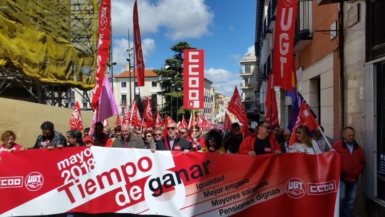 Un momento de la manifestación por las calles de Guadalajara