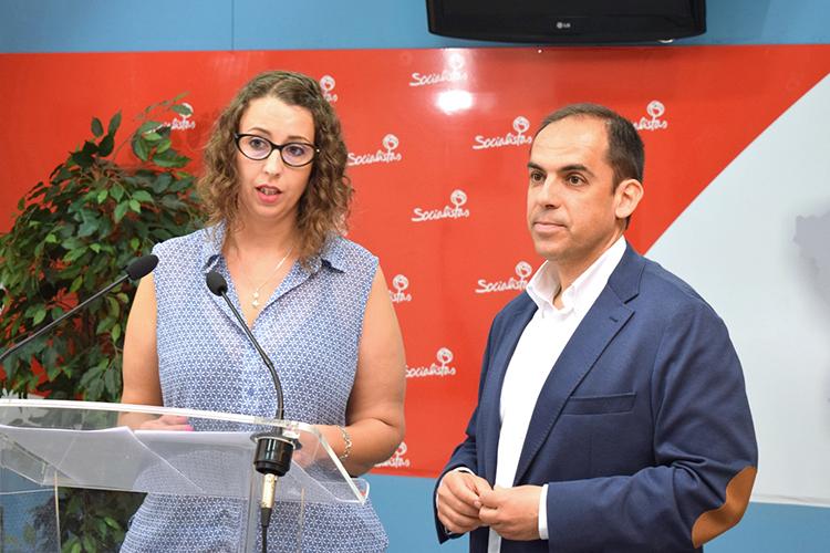 Sara Simón y Daniel Jiménez,en rueda de prensa