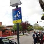 Una cámara controla el tráfico en el centro de Azuqueca