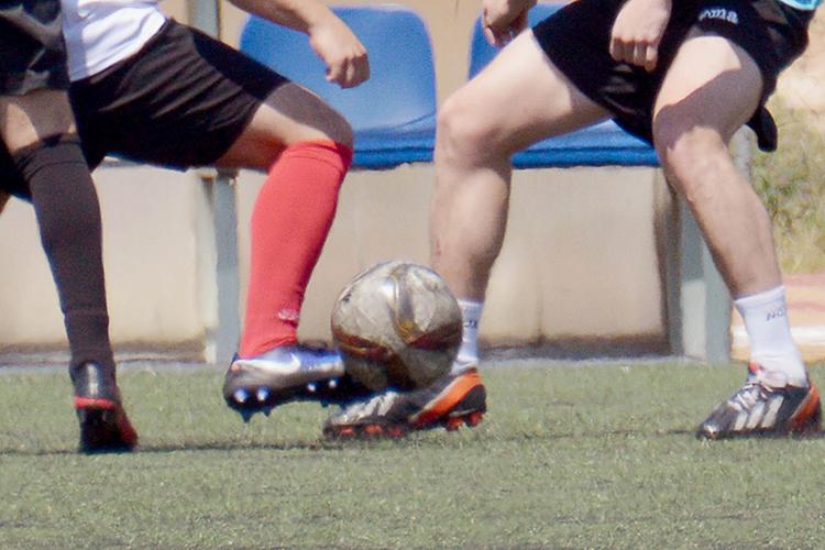 Imagen de archivo de un partido de fútbol 7 de la temporada pasada. Fotografía: Álvaro Díaz Villamil / Ayuntamiento de Azuqueca de Henares.
