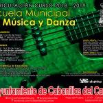 Abre el periodo de matriculación para el próximo curso en la Escuela Municipal de Música y Danza de Cabanillas