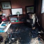 Dos heridos en el incendio de una vivienda en Tierzo
