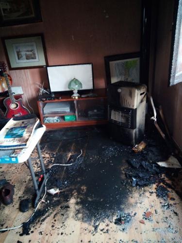 Estado en que quedó la habitación (Foto @CEISGuadalajara )