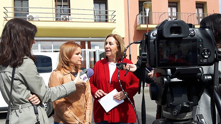 Las dos parlamentarias alcarreñas en rueda de prensa