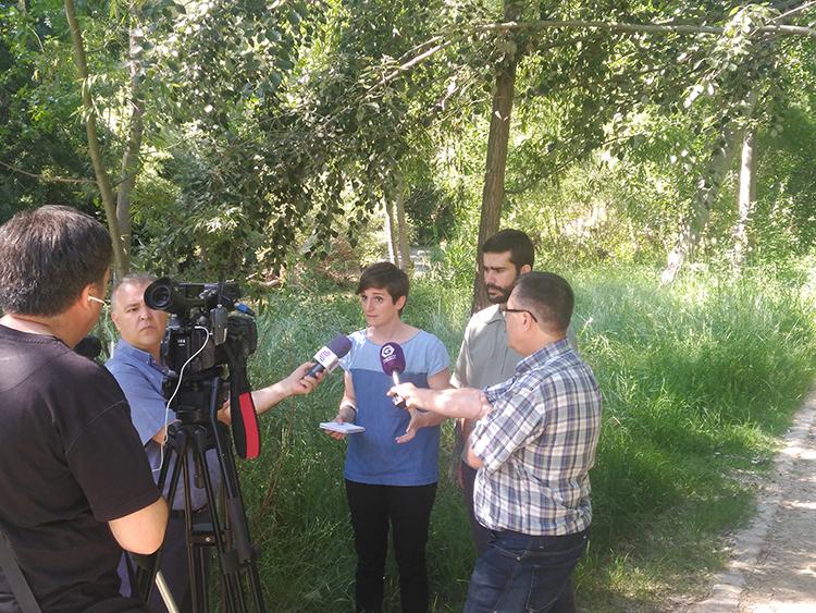 Un momento de la rueda de prensa ofrecida por Ahora Guadalajara