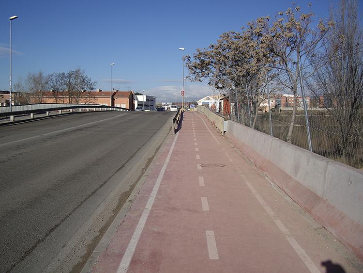 Imagen actual del Carril Bici en Guadalajara