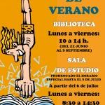 Nuevo horario de verano de la Biblioteca Municipal de Cabanillas