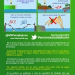 'No te juegues el cuello', eslogan de la campaña del Hospital Nacional de Parapléjicos para prevenir lesiones medulares por zambullidas