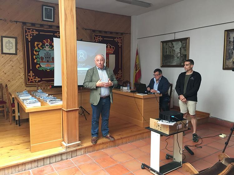 Un momento de la intervención del alcalde de la localidad Juan Manuel Moral