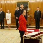 Magdalena Valerio toma posesión como Ministra de Trabajo ante el Rey en la Zarzuela
