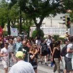 Apoyo en la calle a los jóvenes pobladores de Fraguas tras la sentencia condenatoria