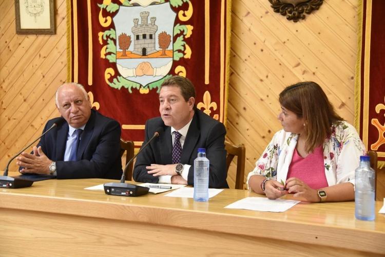 El presidente García Page en Horche