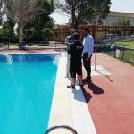 El vaso olímpico de la piscina de verano de Azuqueca está recuperando la normalidad
