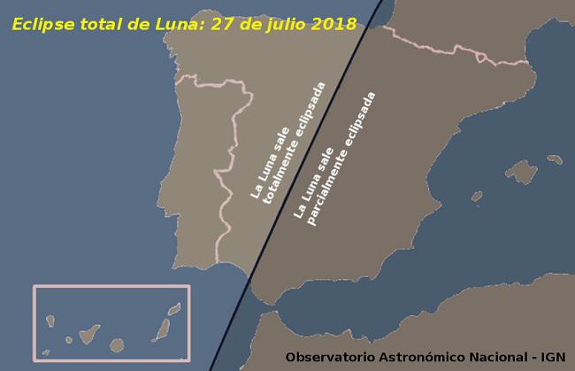 Pincha en el mapa para obtener mas información del eclipse