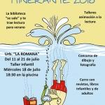 La campaña de animación a la lectura 'Bibliopiscina' recorre este verano ocho urbanizaciones de Valdeluz