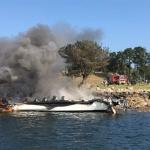 Fallece el vecino de Guadalajara herido en el incendio del catamarán en O Grove