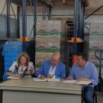 """Latre: """"La Diputación seguirá colaborando con el Banco de Alimentos mientras las personas necesiten ayuda"""""""