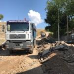 Los operarios de la Diputación ya trabajan en los pueblos afectados por el temporal