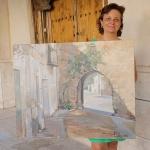 Cristina Pollesel gana el concurso de pintura rápida de Almonacid de Zorita