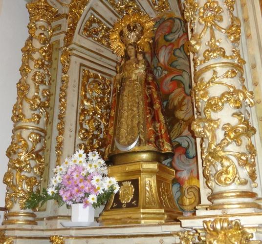 La Virgen de la Antigua, patrona de la Casa de Guadalajara, fue la última imagen a la que Marcos Luengo se encomendó.