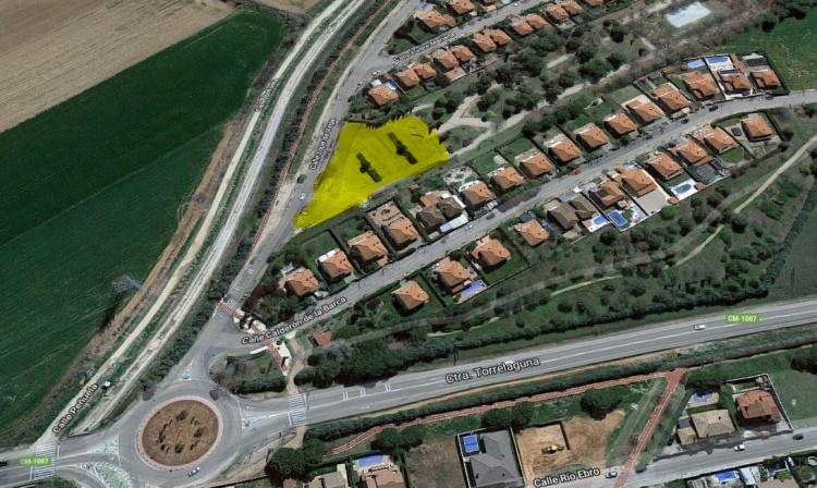 Vista aérea de la ubicación del nuevo parque