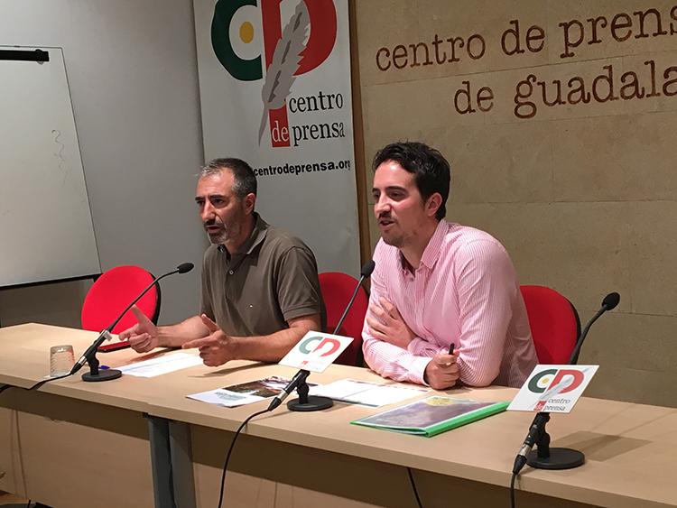 Jesús Alba y Victor Pascual durante la presentación del evento