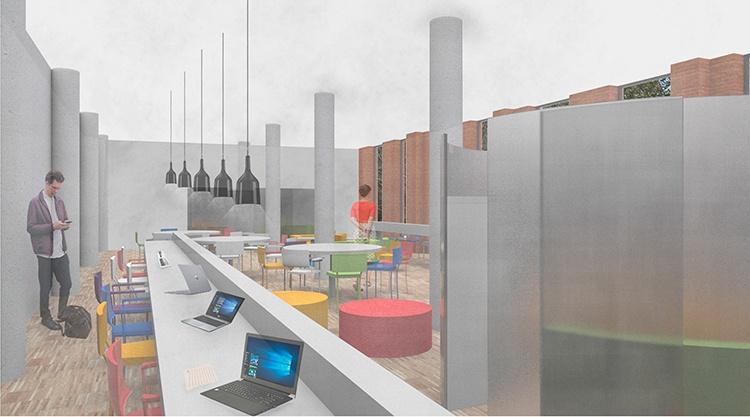 Recreación de la nueva sala de estudio que se va a habilitar en la Casa de la Cultura