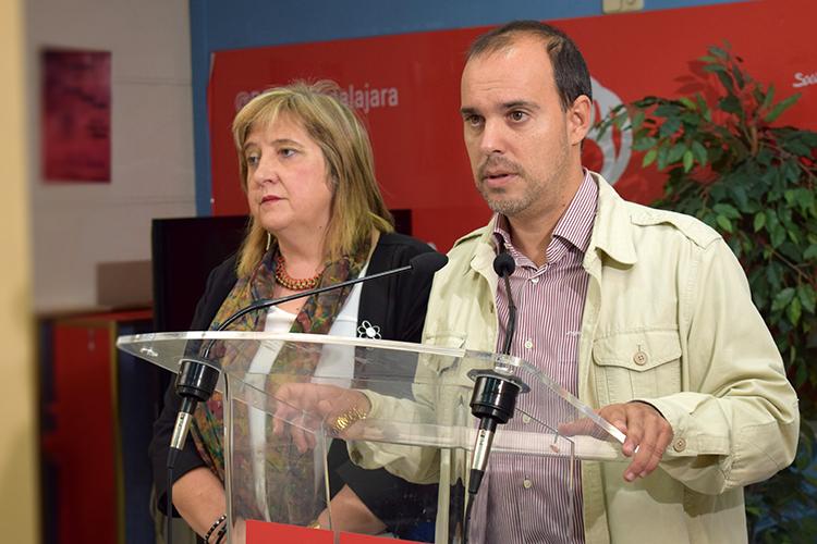 Pablo Bellido y Riansares Serrano durante la rueda de p`prensa que han ofrecido esta mañana