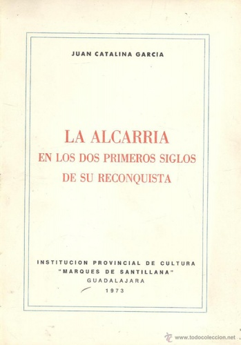 La Alcarria en los dos primeros siglos de su reconquista, el discurso de ingreso en la Real Academia de la Historia, convertido en pilar para la historia de Guadalajara.