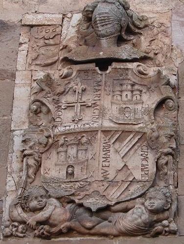 Escudo de armas de Garci Bravo en Atienza, abuelo de Luisa Bravo de Guzmán