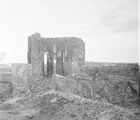 Restos del convento de San Francisco de Atienza, donde recibieron sepultura los Bravo de Laguna y Guzmán