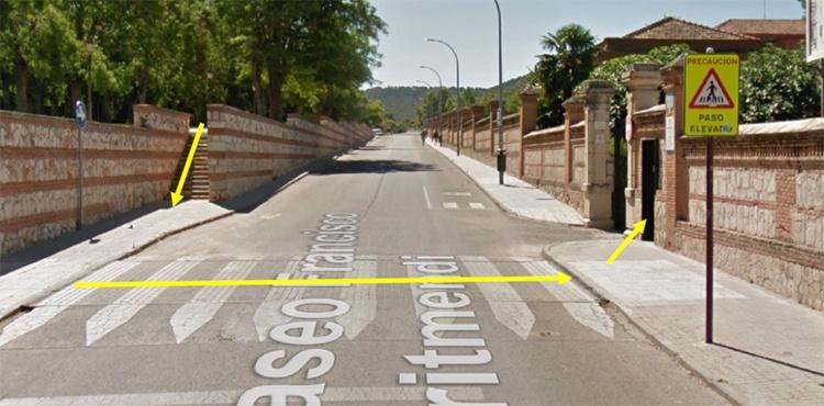 Foto 2 y 3 a partir del 20 de febrero se abrirá el acceso peatonal al centro por la puerta situada en el paseo Fco Arimendi