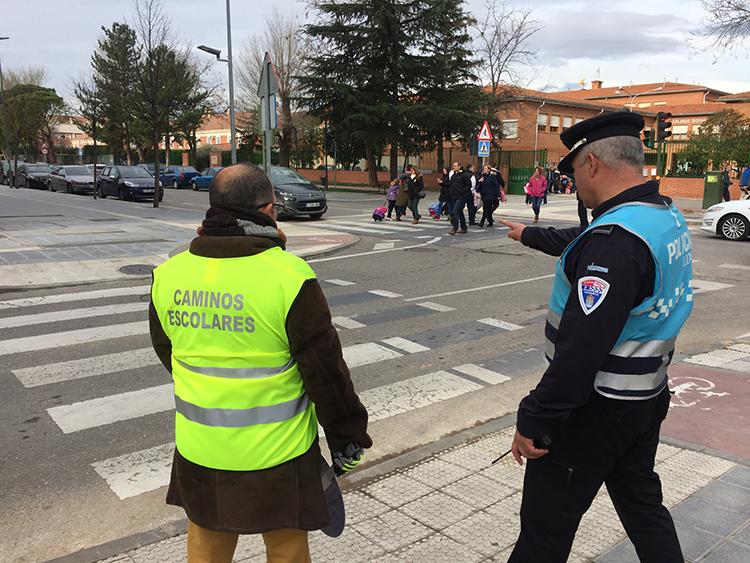 Imagen del programa 'Caminos escolares seguros' del año pasado. Fotografía: Álvaro Díaz Villamil/ Ayuntamiento de Azuqueca de Henares