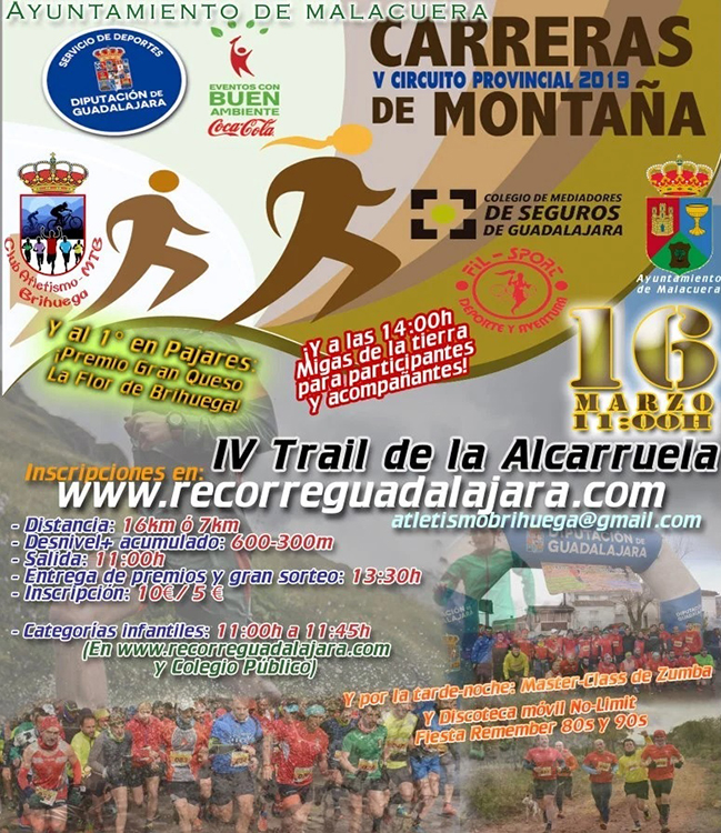 El sábado 16 se celebra en Malacuera el IV Trail de la Alcarruela