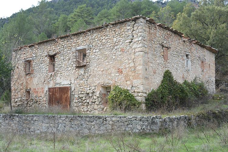 Estado actual del edificio de las salinas. (Foto: Ángel de Juan)