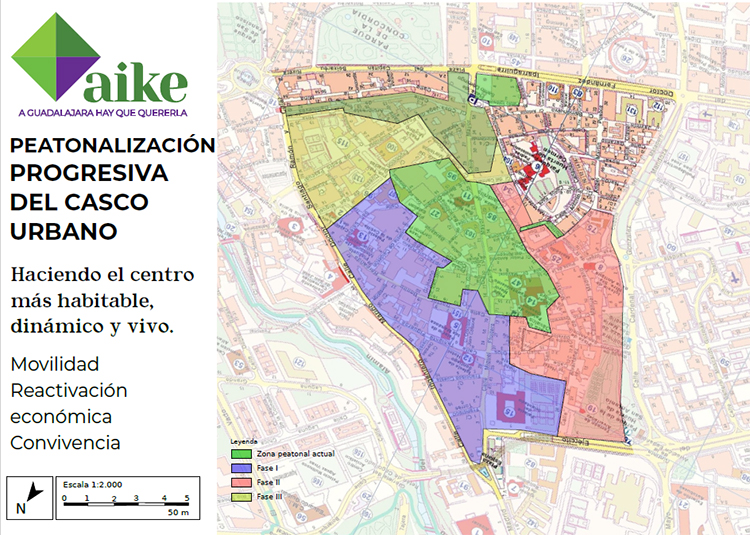 Aike propone la peatonalización progresiva del centro urbano