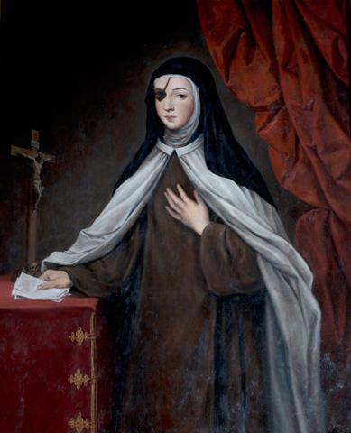 La Princesa de Éboli, monja carmelita, en pintura de Javier Cámara