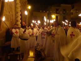Recreación de una ceremonia templaria