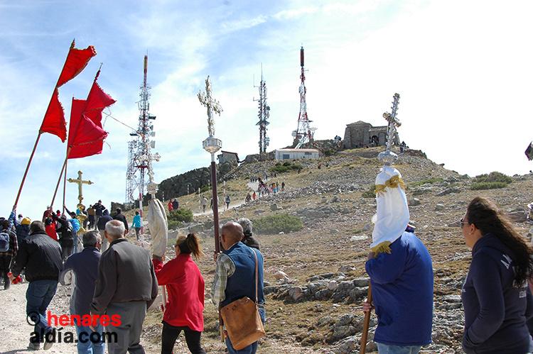 La romería de las Cruces se celebra el primer sábado de septiembre en el Alto Rey.