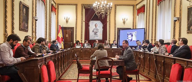 Pleno del ayuntamiento de Guadalajara (foto: @GuadalajaraAyto)