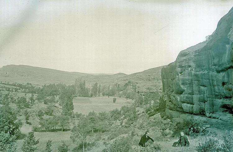 Justo Juberías, junto a Juan Cabré, en las sorianas tierras de Retortillo