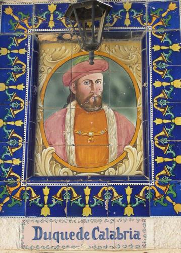 Fernando de Aragón, duque de Calabria, con quien Mencía de Mendoza contrajo segundo matrimonio