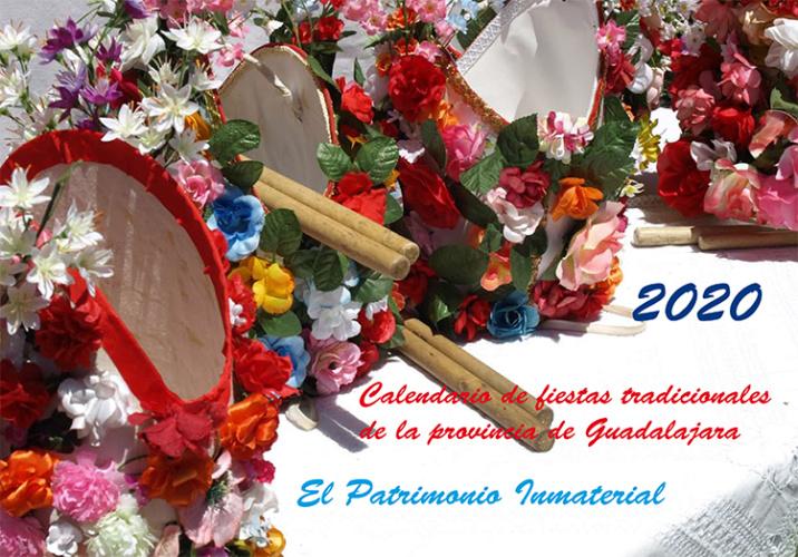 Portada de Calendario de Fiestas Tradicionales de la Dipuitación Provincial de Guadalajara