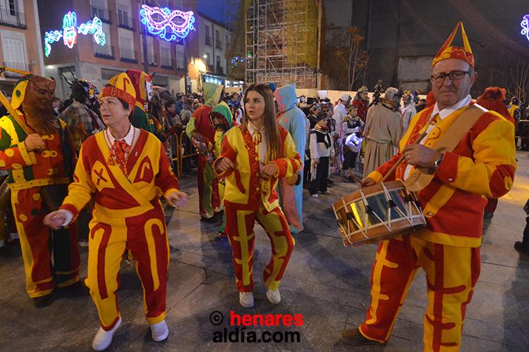 Danzantes de San Blas de Albalate de Zorita en el Carnaval de Guadalajara