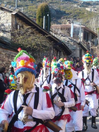 Botargas y Mascaritas de Almiruete durante el sábado de Carnaval.