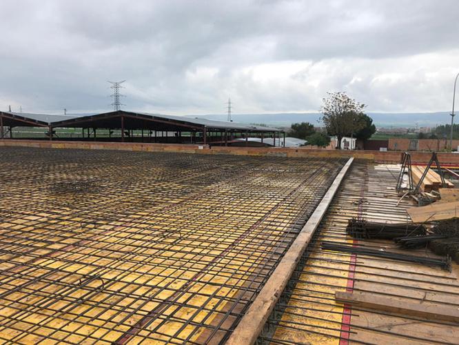 Imagen de las obras en el nuevo depósito de agua de Azuqueca. Fotografías: Ayuntamiento de Azuqueca