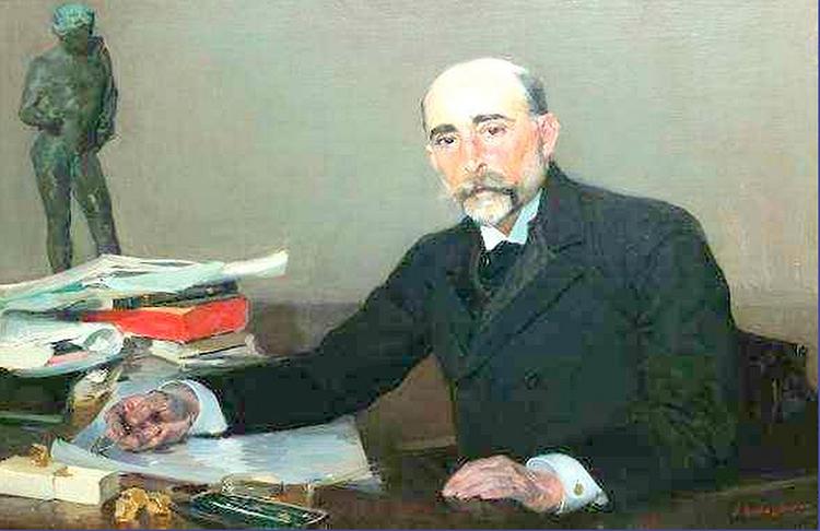Calixto Rodríguez García en su despacho, por Sorolla