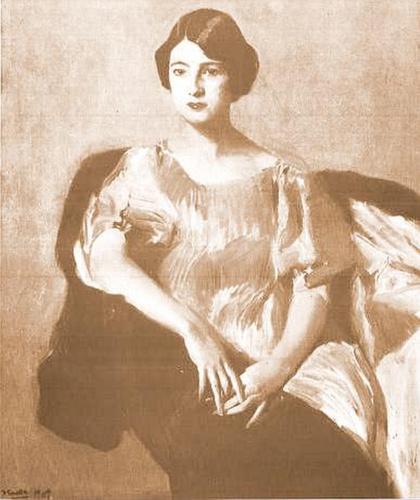 María Lorente Soriano, primera esposa de don Calixto, retratada por Joaquín Sorolla