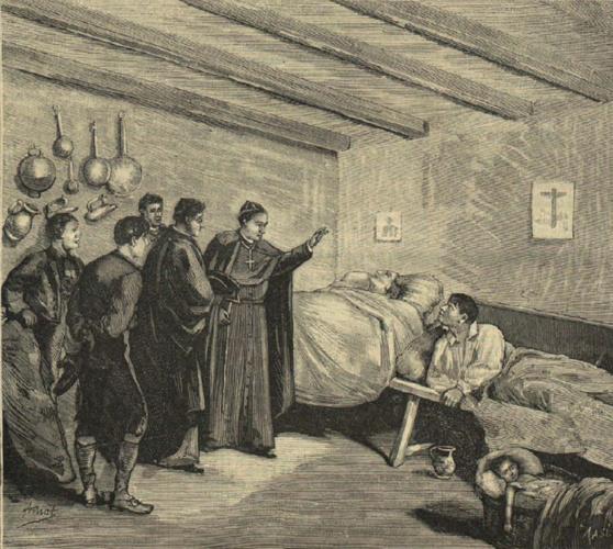 El obispo de Salamanca, consolando a los coléricos